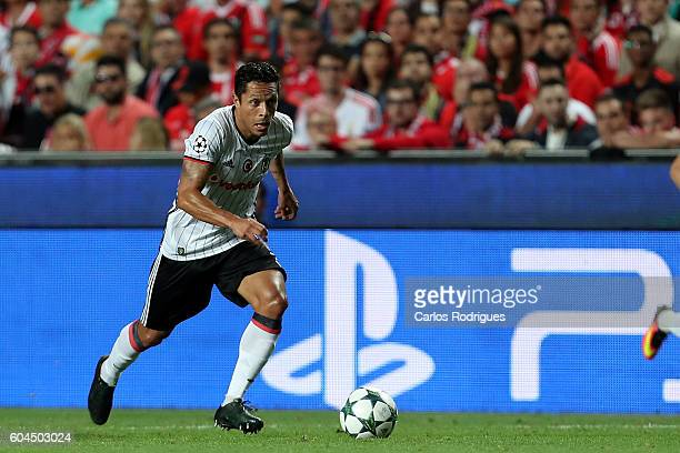 Besiktas JK's midfielder Oguzhan Ozyakup from Turquey during the UEFA Champions League Match between SL Benfica vs Besiktas JK at Estadio da Luz on...