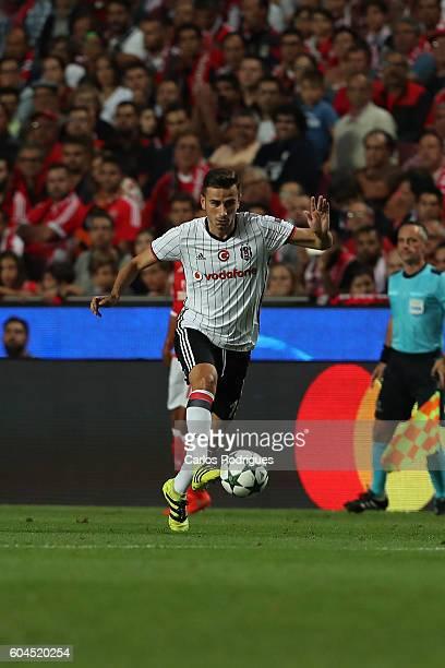 Besiktas JK's midfielder Oguzhan Ozyakup from Turquey during the UEFA Champions League Match between SL Benfica vs Besiktas JK at Estadio da Luz on...