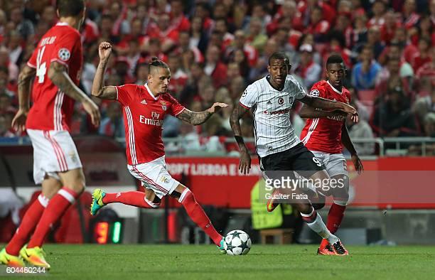 Besiktas JK's midfielder Talisca with SL BenficaÕs midfielder from Serbia Ljubomir Fejsa in action during the UEFA Champions League match between SL...
