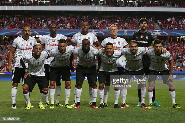 Besiktas JKÕs players pose for a team photo before the start of the UEFA Champions League match between SL Benfica and Besiktas JK at Estadio da Luz...