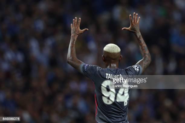 Besiktas midfielder Andersson Talisca celebrates scoring Besiktas first goal during the match between FC Porto v Besiktas JK for the UEFA Champions...