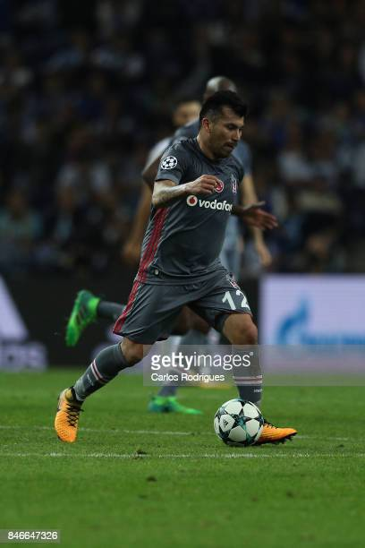 Besiktas midfielder Gary Medel from Chile during the match between FC Porto v Besiktas JK for the UEFA Champions League at Estadio do Dragao on...