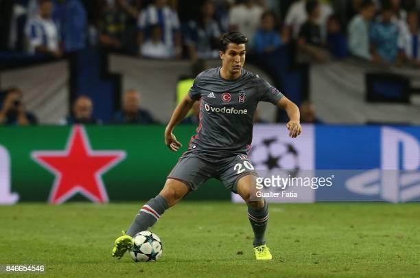 Besiktas midfielder Necip Uysal from Turkey in action during the UEFA Champions League match between FC Porto and Besiktas JK at Estadio do Dragao on...
