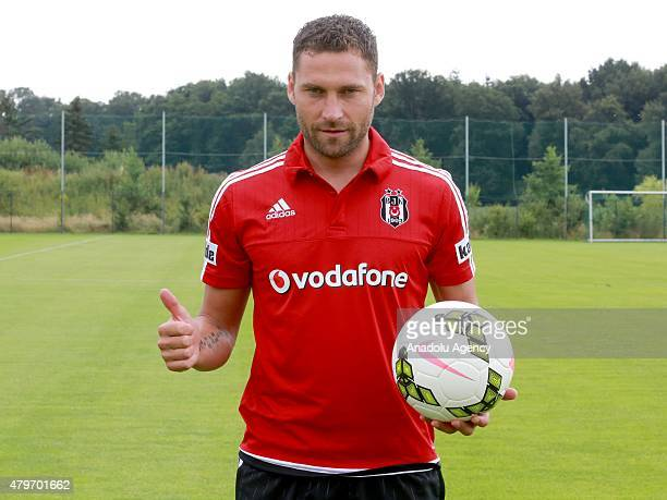 Besiktas' new transfer Dusko Tosic attends the training session of their club in Marienfeld, Germany on July 6, 2015. Besiktas came to Germany for...