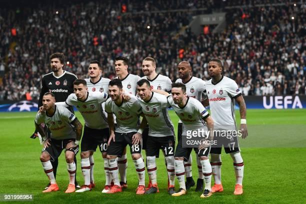 Besiktas players Portuguese midfielder Ricardo Quaresma midfielder Oguzhan Ozyakup midfielder Tolgay Arslan defenders Gary Medel and Gokhan Gonul and...