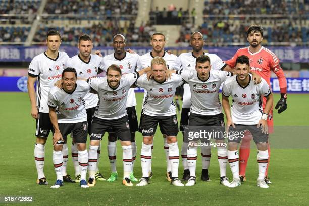 Besiktas' players pose for a photo before the International Champions Cup match between Schalke 04 and Besiktas at Zhuhai Sports Centre Stadium in...