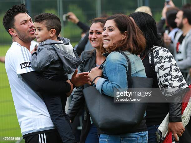 Besiktas' Tolgay Arslan and his relatives are seen in a training session during their camp in Mairenfeld village in Harsewinkel city, Germany on July...