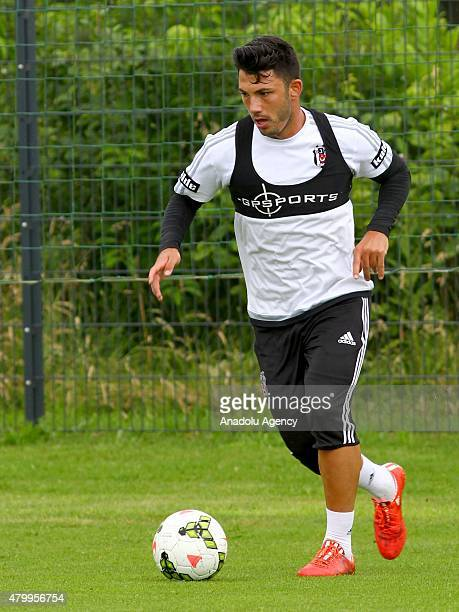 Besiktas' Tolgay Arslan is seen during a training session during their camp in Mairenfeld village in Harsewinkel city, Germany on July 8, 2015.