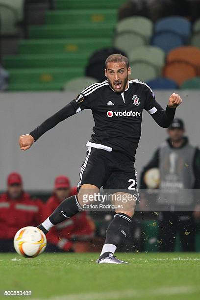 Besiktas's forward Cenk Tosun during the match between Sporting CP and Besiktas JK for UEFA Europe League Group Round on December 10 2015 in Lisbon...