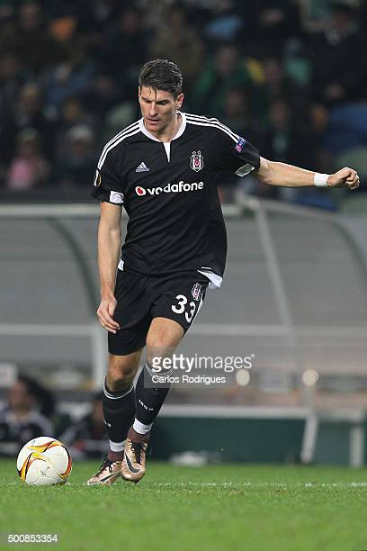 Besiktas's forward Mario Gomez during the match between Sporting CP and Besiktas JK for UEFA Europe League Group Round on December 10 2015 in Lisbon...