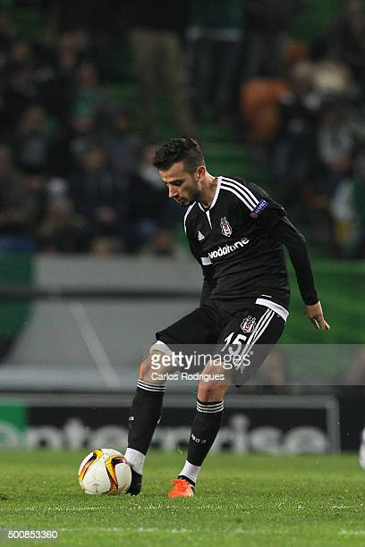 Besiktas's midfielder Oguzhan Ozyakup during the match between Sporting CP and Besiktas JK for UEFA Europe League Group Round on December 10 2015 in...
