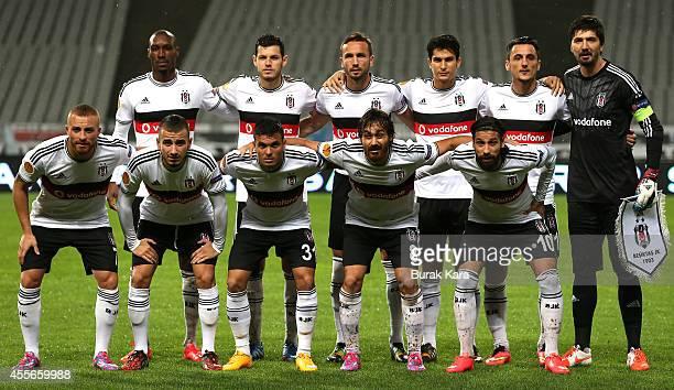 Besiktas's soccer players pose for a team photo before their UEFA Europa League Group C match Besiktas JK v Asteras Tripolis FC at the Ataturk...