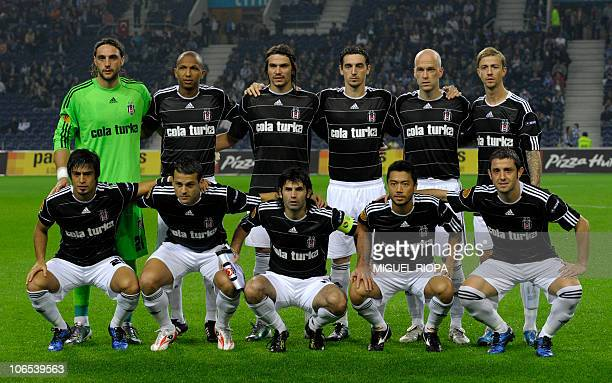 Besiktas´s team poses before their UEFA Europa League group L football match against FC Porto at the Dragao Stadium in Porto on November 4 2010 The...