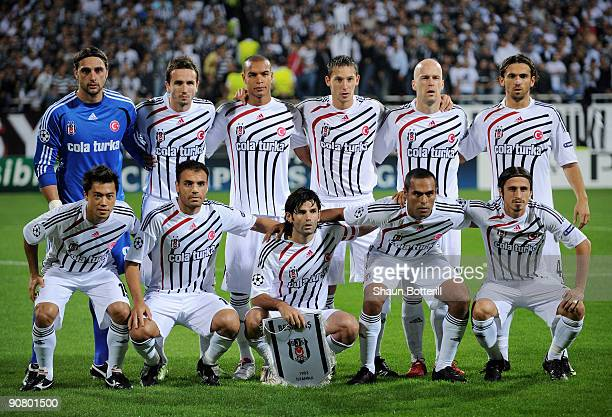 Besitkas players lineup before the UEFA Champions League Group B match between Besiktas and Manchester United at the Inonu Stadium on September 15...