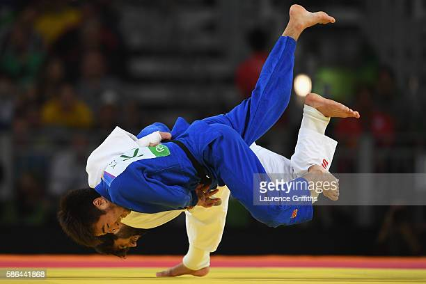 Beslan Mudranov of Russia competes against Yeldos Smetov of Kazakhstan in the Men's -60 kg Gold Medal contest on Day 1 of the Rio 2016 Olympic Games...