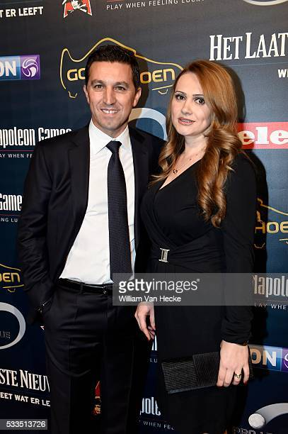Besnik Hasi head coach of Rsc Anderlecht pictured during the 61th edition of the Golden Shoe Award ceremony at the AED studios in Lint Belgium The...