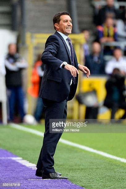 Besnik Hasi head coach of Rsc Anderlecht pictured during the Jupiler pro league match between Rsc Anderlecht and WaaslandBeveren on July 26 2015 in...