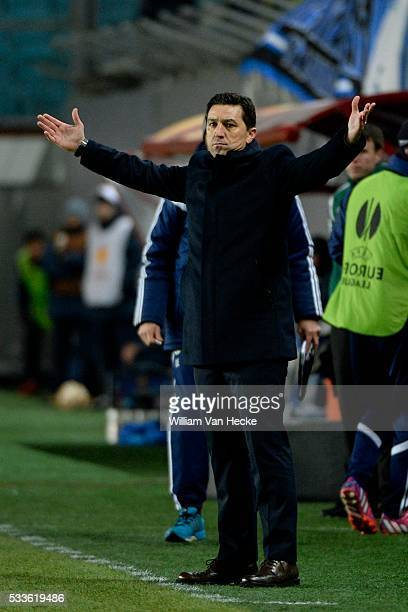 Besnik Hasi head coach of Rsc Anderlecht pictured during the UEFA Europa League Round of 32 second leg match between Dinamo Moscow and Rsc Anderlecht...