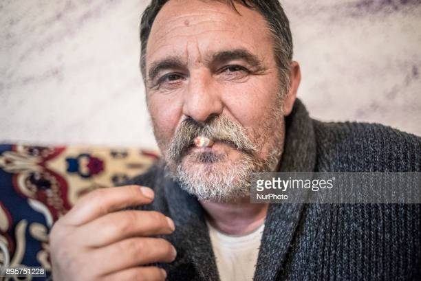 Besnik Muja in his apartment in Tosin Bunar, Belgrade, Serbia on December 17, 2017. Besnik Muja is the head of a Romani settlement, located in New...
