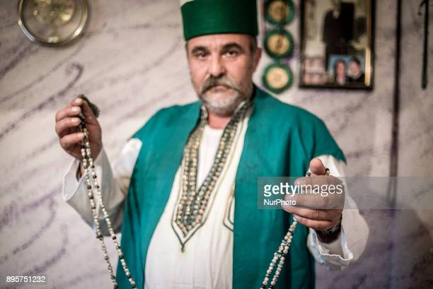 Besnik Muja in his apartment in Tosin Bunar Belgrade Serbia on December 17 2017 Besnik Muja is the head of a Romani settlement located in New...