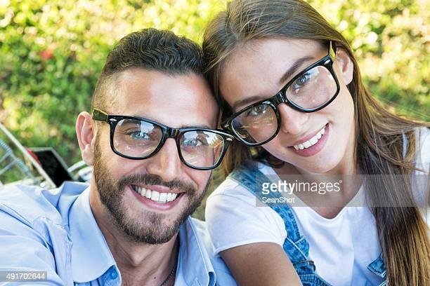 Bespectacled Portrait de Couple