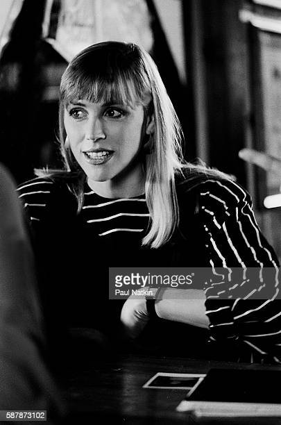 Bess Armstrong on the set of the Thompson Twins video for the theme song of the movie Nothing in Common June 1 1986 in Chicago Illinois