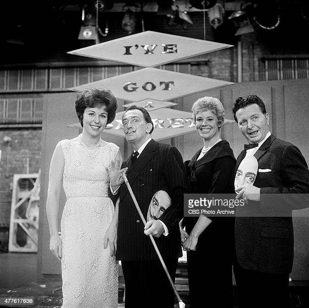 Bess Myerson Salvador Dali Betsy Palmer and Henry Morgan on I'VE GOT A SECRET Image dated January 21 1963