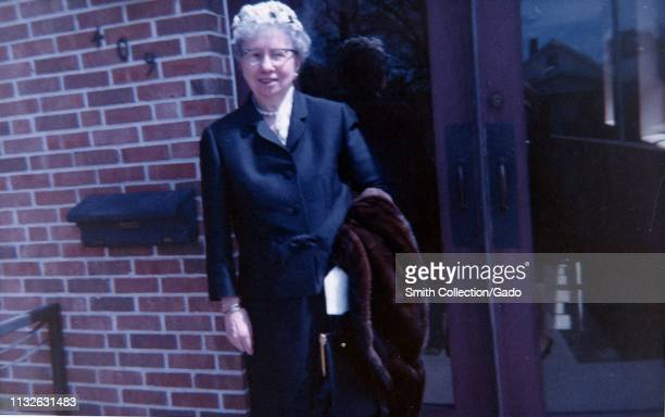 Bess Truman the first lady to President Harry S Truman outside her church on Easter Sunday April 18 1965 Image courtesy National Archives