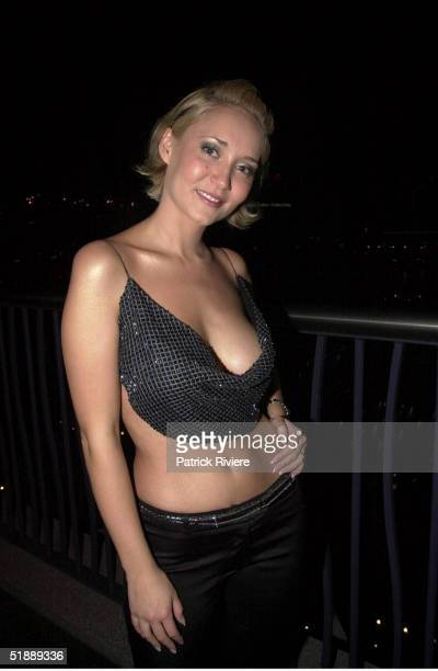 SEPTEMBER 2001 Bessie Bardot attends the Australian Penthouse Pet of the Year at the L'Aqua restaurant at Darling Harbour Sydney Australia
