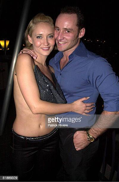 SEPTEMBER 2001 Bessie Bardot attends the Australian Penthouse Pet of the Year with husband Jeff Barker at the L'Aqua restaurant at Darling Harbour...