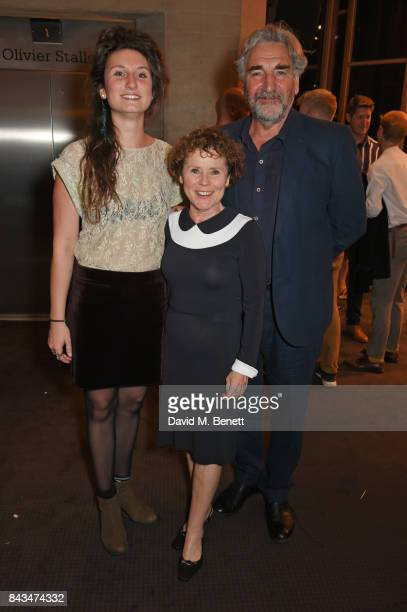 Bessie Carter Imelda Staunton and Jim Carter attend the press night performance of Follies at The National Theatre on September 6 2017 in London...