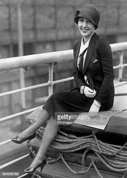 Bessie Love the American silent screen actress on board the 'RMS Majestic'