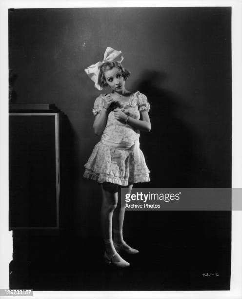 Bessie Love wearing little girl outfit in a scene from the film 'Hollywood Revue Of 1929' 1929