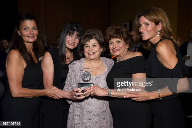 Bessie Nelson poses with an award at the Tony Honors Cocktail Party Presenting The 2018 Tony Honors For Excellence In The Theatre And Honoring The...