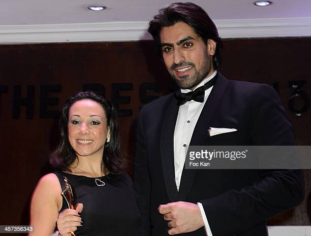 Best 2013 awarded Sarah Abitbol and a prince from Arabia Saudi attend the 'The Best 2013' Ceremony Awards 37th Edition at the Salons Hoche on...