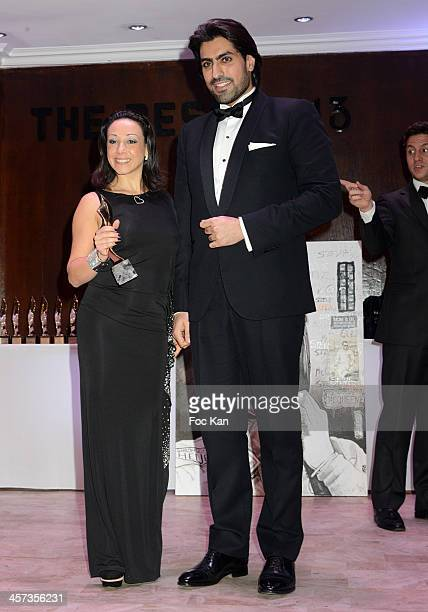 Best 2013 awarded Sarah Abitbol and Prince Salman al Saud attend the 'The Best 2013' Ceremony Awards 37th Edition at the Salons Hoche on December 16...