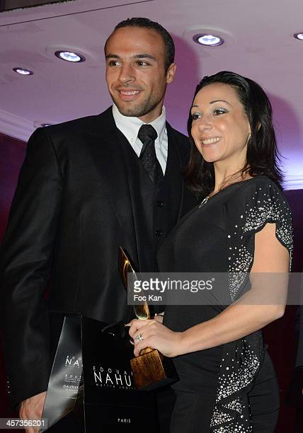 Best 2013 awarded Sarah Abitbol and Stephane Bernadis attend the 'The Best 2013' Ceremony Awards 37th Edition at the Salons Hoche on December 16 2013...