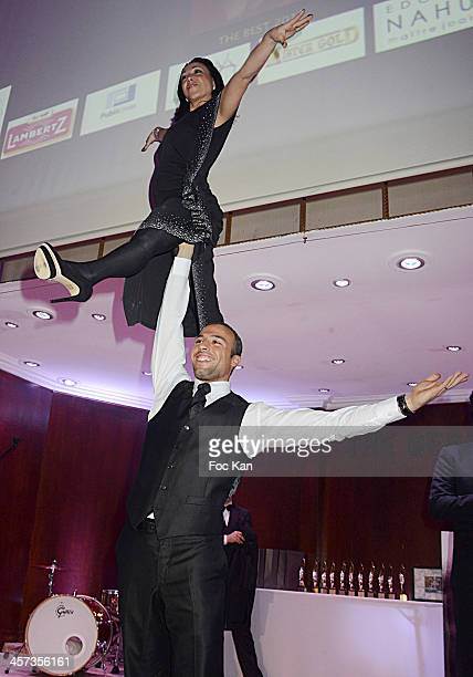 Best 2013 awarded Sarah Abitbol and Stephane Bernadis perform during 'The Best 2013' Ceremony Awards 37th Edition at the Salons Hoche on December 16...