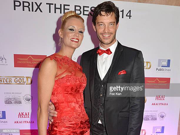 Best 2014 awarded Elodie Gossuin and husband Bertrand Lacherie attend 'The Best' Awards 2014 Ceremony At Salons Hoche on December 15 2014 in Paris...