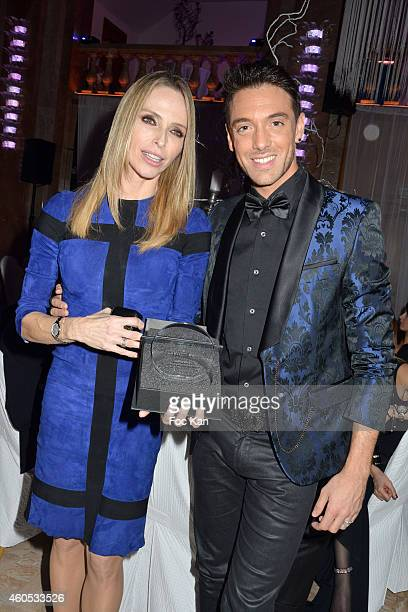 Best 2014 awarded Tonya Kinzinger andMaxime Dereymez attend 'The Best' Awards 2014 Ceremony At Salons Hoche on December 15 2014 in Paris France