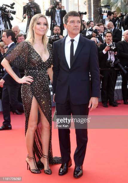 """Best Actor Antonio Banderas and Nicole Kimpel attend the closing ceremony screening of """"The Specials"""" during the 72nd annual Cannes Film Festival on..."""
