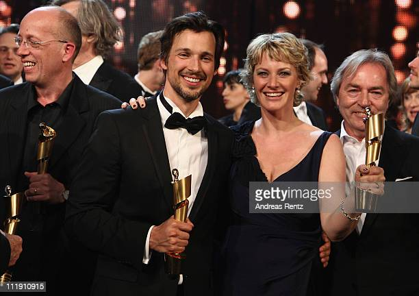 Best Actor Florian David Fitz and Best Movie actress Viola Jaeger of 'Vincent Will Meer' during the German Film Award 2011 at Friedrichstadtpalast on...