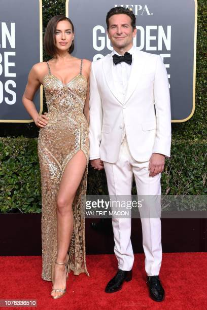 Best Actor in a Motion Picture Drama and Best Director Motion Picture for A Star is Born nominee Bradley Cooper and his partner Russian model Irina...