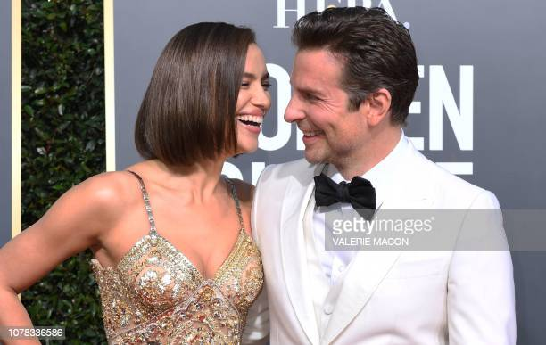 TOPSHOT Best Actor in a Motion Picture Drama and Best Director Motion Picture for A Star is Born nominee Bradley Cooper and his partner Russian model...