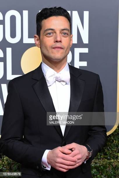 Best Actor in a Motion Picture Drama for Bohemian Rhapsody nominee Rami Malek arrives for the 76th annual Golden Globe Awards on January 6 at the...