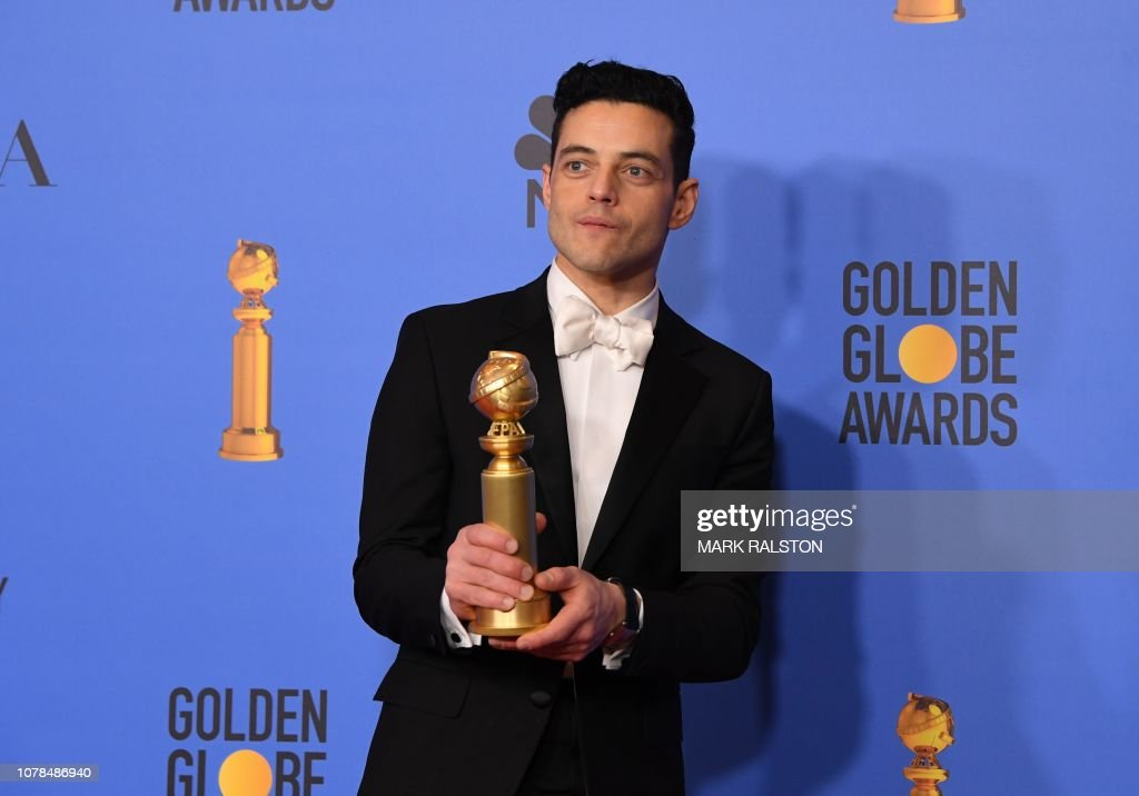 US-ENTERTAINMENT-FILM-TELEVISION-GOLDEN-GLOBES-PRESSROOM : News Photo