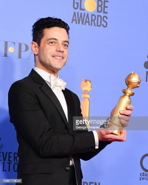 Best Actor in a Motion Picture Drama for 'Bohemian Rhapsody' winner Rami Malek poses in the press room during the 75th Annual Golden Globe Awards...