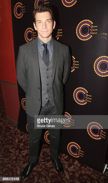 Best Actor in a Musical Winner for Groundhog Day Andy Karl poses at the 2017 Outer Critics Circle Awards Presentation at Sardi's on May 25 2017 in...