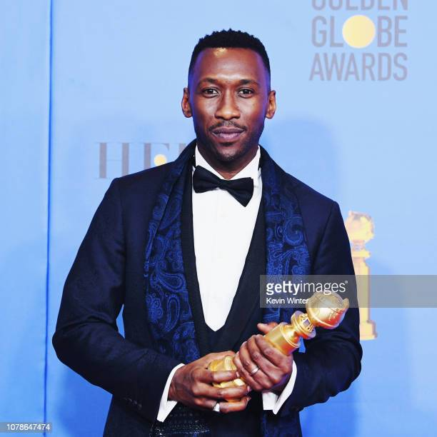 Best Actor in a Supporting Role in any Motion Picture for 'The Green Book' winner Mahershala Ali poses in the press room during the 76th Annual...
