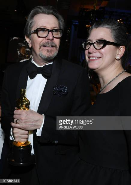 Best Actor laureate Gary Oldman and his wife Gisele Schmidt attend the 90th Annual Academy Awards Governors Ball at the Hollywood Highland Center on...